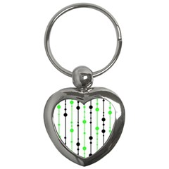 Green pattern Key Chains (Heart)