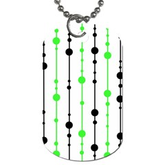 Green pattern Dog Tag (Two Sides)