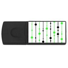 Green pattern USB Flash Drive Rectangular (4 GB)