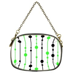 Green pattern Chain Purses (One Side)