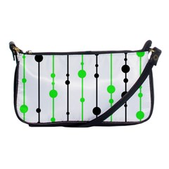 Green pattern Shoulder Clutch Bags