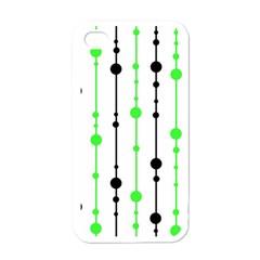 Green pattern Apple iPhone 4 Case (White)