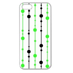 Green pattern Apple Seamless iPhone 5 Case (Clear)