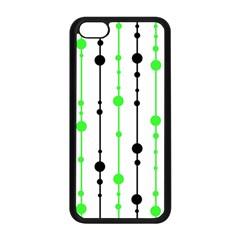 Green pattern Apple iPhone 5C Seamless Case (Black)