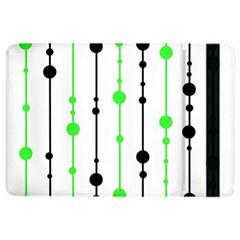 Green pattern iPad Air 2 Flip