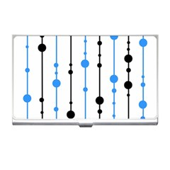Blue, white and black pattern Business Card Holders