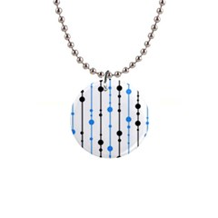 Blue, white and black pattern Button Necklaces