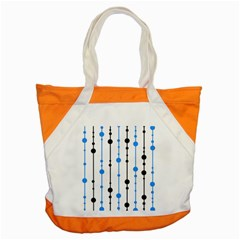 Blue, white and black pattern Accent Tote Bag