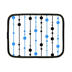 Blue, white and black pattern Netbook Case (Small)