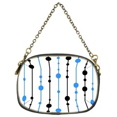 Blue, white and black pattern Chain Purses (One Side)
