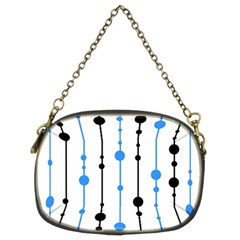 Blue, white and black pattern Chain Purses (Two Sides)