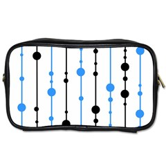 Blue, white and black pattern Toiletries Bags