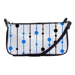 Blue, white and black pattern Shoulder Clutch Bags