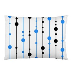 Blue, white and black pattern Pillow Case (Two Sides)