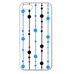 Blue, white and black pattern Apple Seamless iPhone 5 Case (Clear)