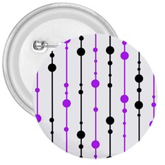 Purple, white and black pattern 3  Buttons