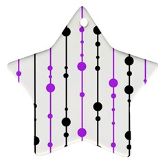 Purple, white and black pattern Ornament (Star)