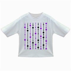 Purple, white and black pattern Infant/Toddler T-Shirts