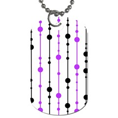 Purple, white and black pattern Dog Tag (One Side)