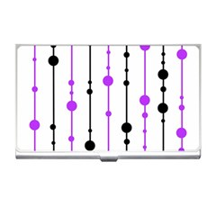 Purple, white and black pattern Business Card Holders