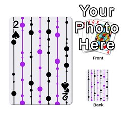 Purple, white and black pattern Playing Cards 54 Designs
