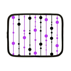 Purple, white and black pattern Netbook Case (Small)