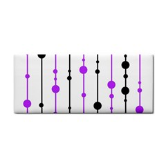 Purple, white and black pattern Hand Towel