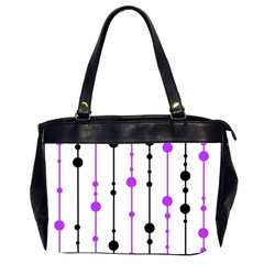 Purple, white and black pattern Office Handbags (2 Sides)