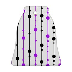 Purple, white and black pattern Ornament (Bell)
