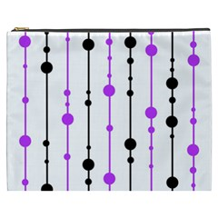 Purple, white and black pattern Cosmetic Bag (XXXL)