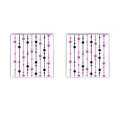 Magenta, black and white pattern Cufflinks (Square)