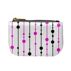 Magenta, black and white pattern Mini Coin Purses