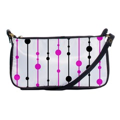 Magenta, black and white pattern Shoulder Clutch Bags