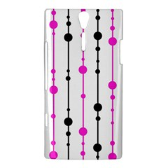 Magenta, black and white pattern Sony Xperia S