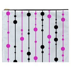 Magenta, black and white pattern Cosmetic Bag (XXXL)