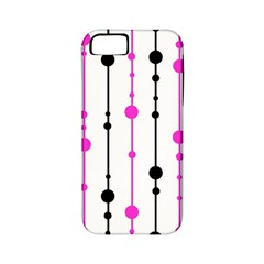 Magenta, black and white pattern Apple iPhone 5 Classic Hardshell Case (PC+Silicone)