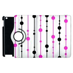 Magenta, black and white pattern Apple iPad 2 Flip 360 Case