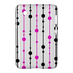 Magenta, black and white pattern Samsung Galaxy Tab 2 (7 ) P3100 Hardshell Case