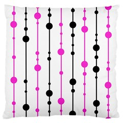 Magenta, black and white pattern Large Flano Cushion Case (One Side)