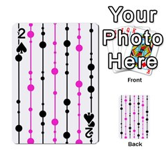 Magenta, black and white pattern Playing Cards 54 Designs