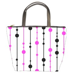 Magenta, black and white pattern Bucket Bags