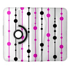 Magenta, black and white pattern Samsung Galaxy Note II Flip 360 Case