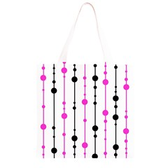 Magenta, black and white pattern Grocery Light Tote Bag
