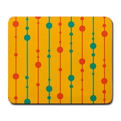 Yellow, green and red pattern Large Mousepads