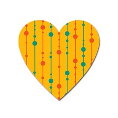 Yellow, green and red pattern Heart Magnet