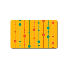 Yellow, green and red pattern Magnet (Name Card)