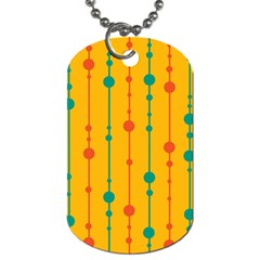 Yellow, green and red pattern Dog Tag (One Side)