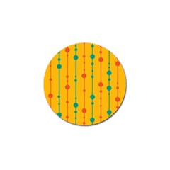 Yellow, green and red pattern Golf Ball Marker