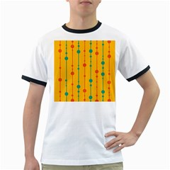 Yellow, green and red pattern Ringer T-Shirts