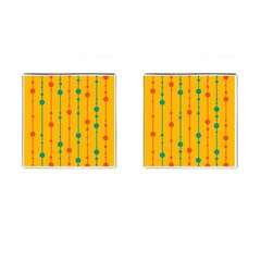 Yellow, green and red pattern Cufflinks (Square)